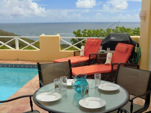 Outdoor Private Pool & Deck with view - Flamingo Way ~ Private pool & garden; ocean views - Teague Bay - rentals