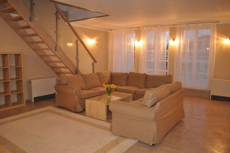 Our friendly and welcoming living room - Luxurious double level penthouse for you! - Krakow - rentals
