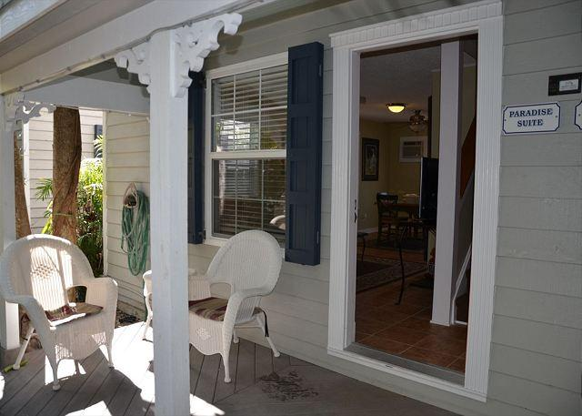 Enter This Unit Through the Front Porch With Loads of Character - Paradise Suite - Monthly - Key West - rentals