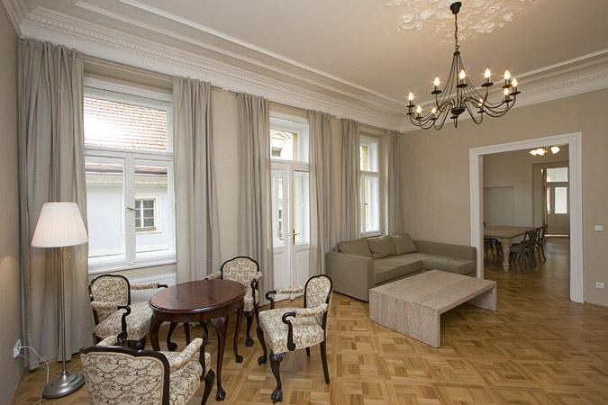 Living room - Prague-Super Classy 3-BR Apartment-Historic Center - Prague - rentals