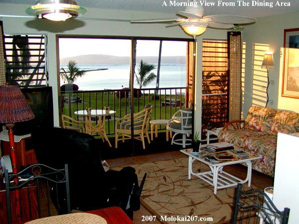 The View From Our Dining Area - MOLOKAI SHORES 207. Oceanfront. GREAT location! - Kaunakakai - rentals