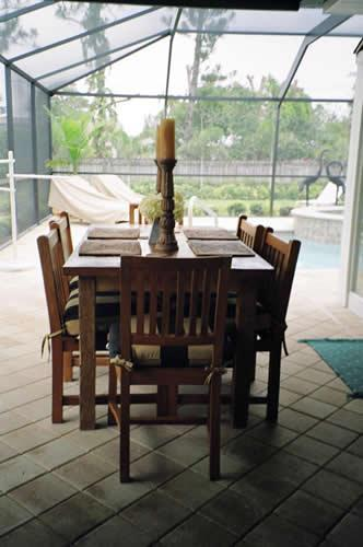 Patio Dining Area - Palmview - Gorgeous Home and Spa - Naples - rentals