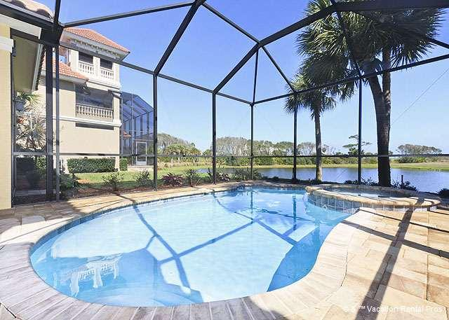 Our pool & hot tub are all yours! - Sanctuary Beach Home, 4 Bedrooms, HDTV, Private Pool, Wifi - Palm Coast - rentals