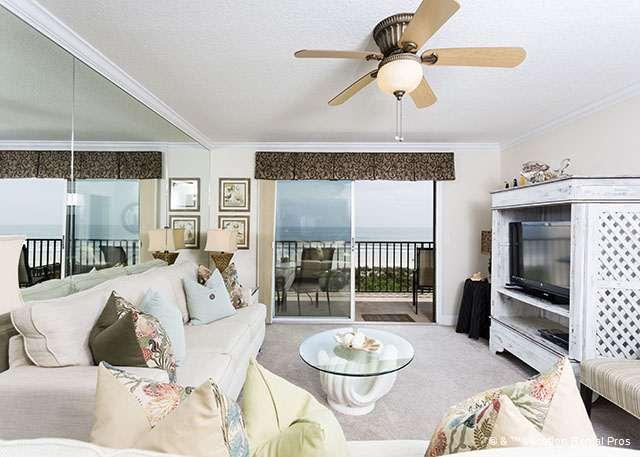 Enjoy ocean views and our HDTV! - Windjammer 214 Luxury Beach Front, Elevator St Augustine Beach - Saint Augustine - rentals