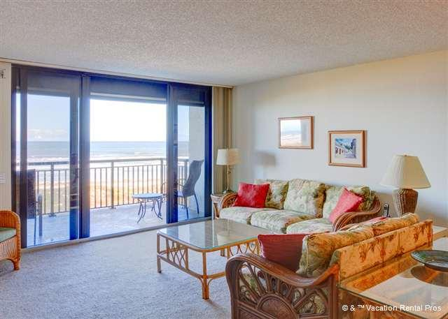 You'll feel like you're right on the beach in our comfy condo - Barefoot Trace 415, 4th floor, Ocean Front, Huge Balcony, Pool - Saint Augustine - rentals