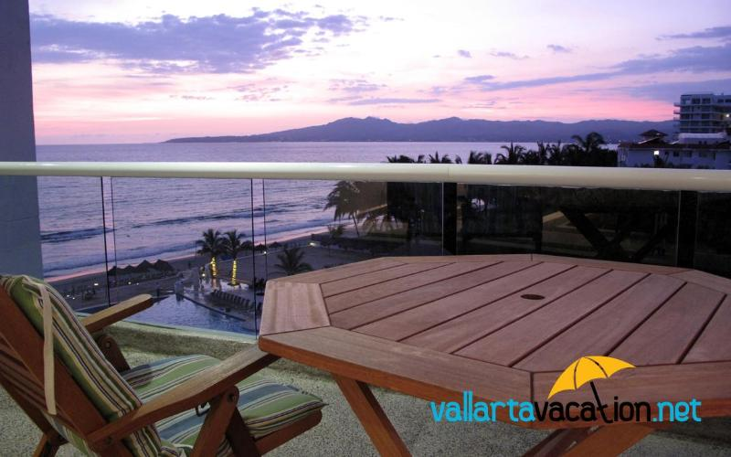View of Northern Half of the Bay of Banderas from Balcony - Dreams Villa Magna - Oceanfront Condo - 20% OFF - Nuevo Vallarta - rentals