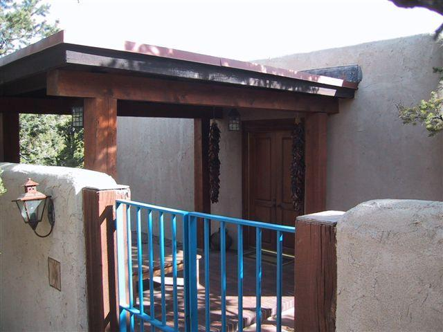 Entrance to Casita - 1 bedroom Casita, Mountain Views, Hiking, Biking - Santa Fe - rentals