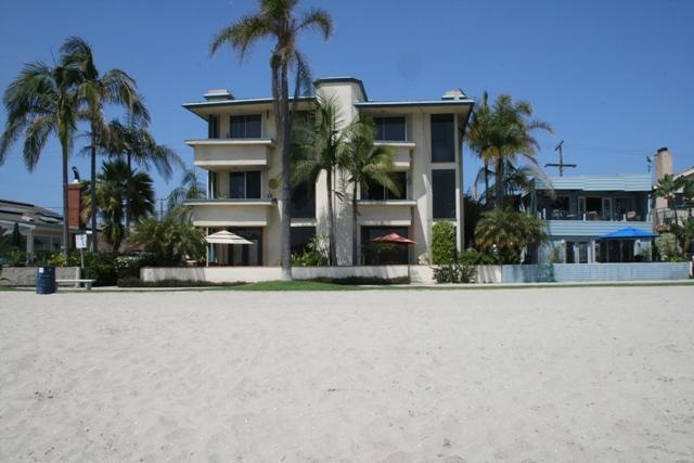 The condo is level two on the right, enjoy the sand! - Bayside Waterfront Condo -Great Location! - Mission Beach - rentals