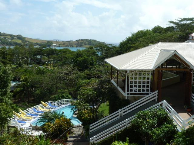 Patio and Pool - Sugarapple Inn. - Friendship Bay - rentals