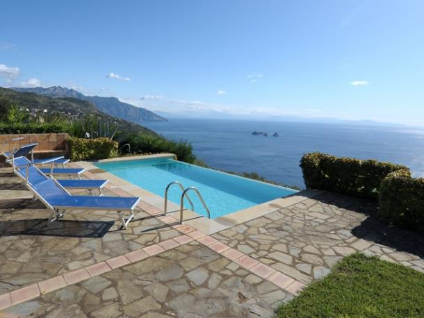 Villa Outside of Sorrento with a Private Infinity Pool and Breathtaking Views - Villa Salerno - Image 1 - Sant'Agata sui Due Golfi - rentals
