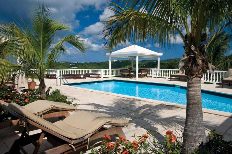 The pool and deck At Sugar Bay House, St Croix - Sugar Bay House! Stunning Sea Views & Tranquility - Saint Croix - rentals