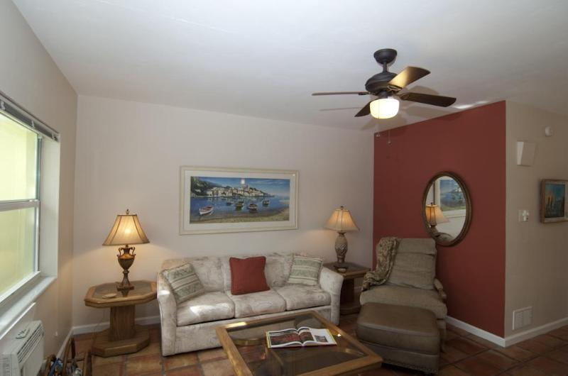 Living Room from front door - Beach Area Garden Apartment - Delray Beach - rentals