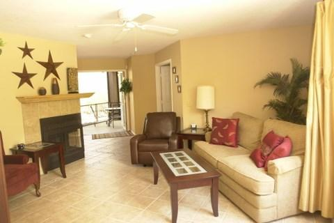 Light Bright Living Room - Three Bedroom Condo at Canyon View in Ventana Canyon - Tucson - rentals