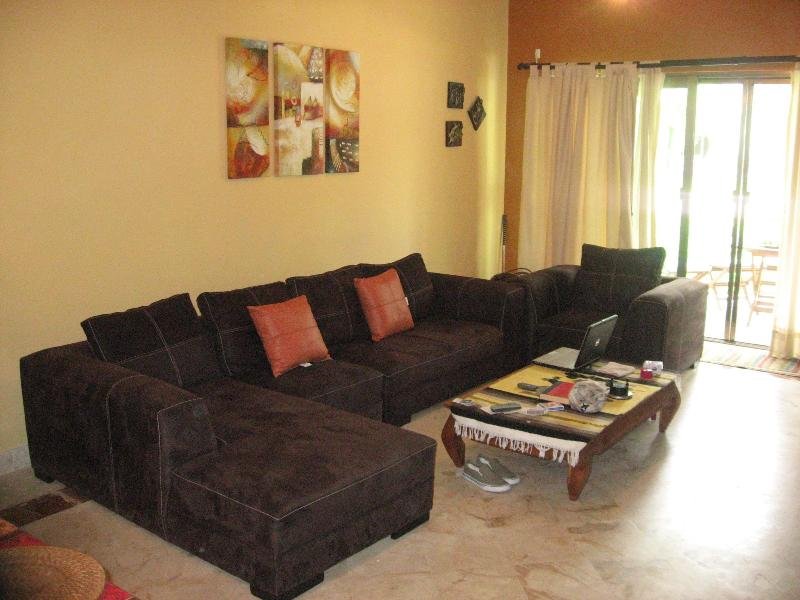 Living Room with access to private terrace - Luxury Condo Playacar-II 3-BR Beach Pools Fitness - Playa del Carmen - rentals