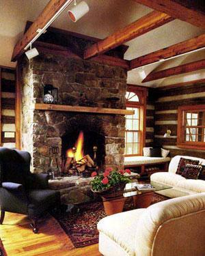 The Living Room in The Cabin at Wintergreen - Cabin at Wintergreen - VA Mt. Resort Luxury Rental - Wintergreen - rentals