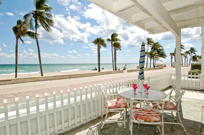1st floor patio area/part of it - Ocean Front House 5 bed 5 bath Pool  on the Sand/Brodwalk Hollywood Beach - Hollywood - rentals