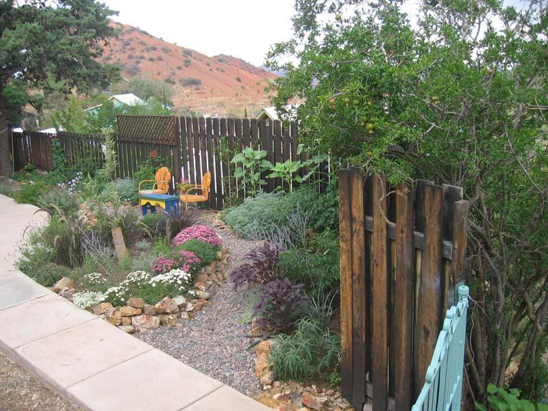 garden with view to Mexico - Orion House - Bisbee - rentals