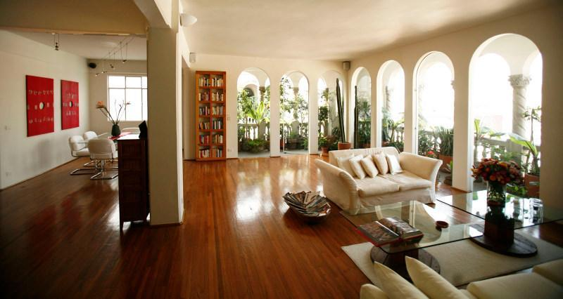 Living room - Luxury penthouse, superb views, in historic center - Mexico City - rentals