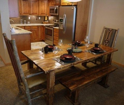 New barnwood table - Copper Mountain Condo - Copper Mountain - rentals