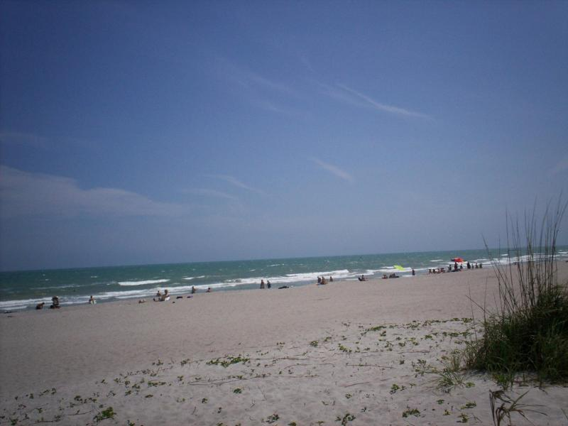 Beach in front of condo - Spectacular 7th Floor Ocean View Cocoa Beach Condo - Cocoa Beach - rentals