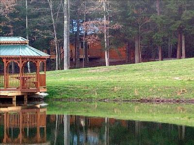 private gazebo - Lazy Days in background - Lazy Days Cabin/ private and romantic free fishing - Monterey - rentals