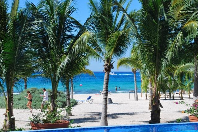 Private Beach of Terrace - STEP OFF YOUR PATIO TO A SANDY BEACH. - Cozumel - rentals