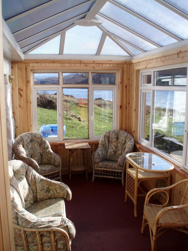 Conservatory looking east - Island of Carna, remote private island, boat inc. - Acharacle - rentals