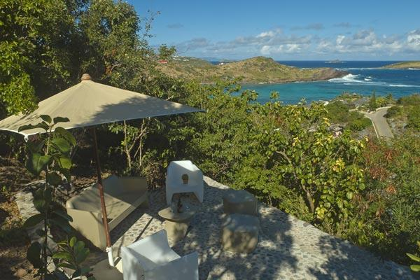 Overlook the ocean and Petit Cul de Sac from the hillside of Domaine du Levant. WV LAR - Image 1 - Saint Barthelemy - rentals
