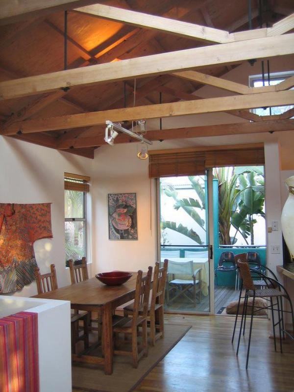 Dining Area opens to al Fresco Deck - Architectural Gem & Guesthouse! Near Canals, Beach - Venice Beach - rentals