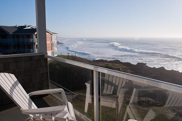Amazing Balcony Views - Seacliff Loft - Book now at www.KeystoneVacationsOregon.com - Luxury Oceanfront Condos/Single Bedroom/Hot Tub - Depoe Bay - rentals