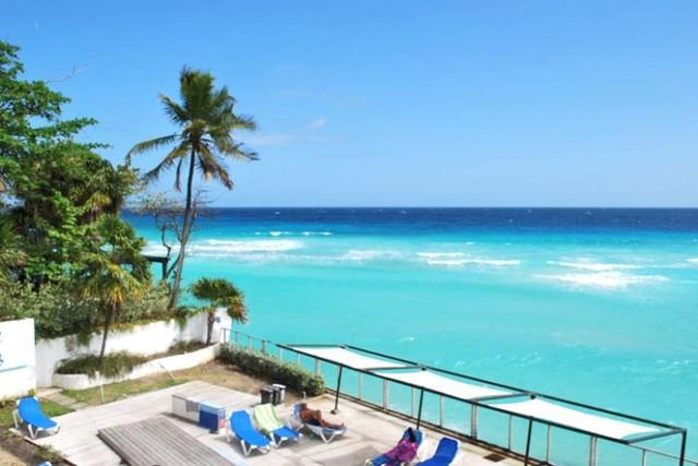 Pool and sea view - Heavenly Hideaway @ St Lawrence Beach Condos - Christ Church - rentals