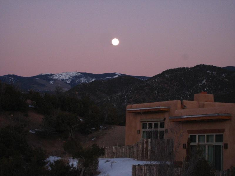 Sunset with Villa in foreground and Mountains behind - Spectacular Bishop's Lodge Villa 5 Mins. fr. Plaza - Santa Fe - rentals