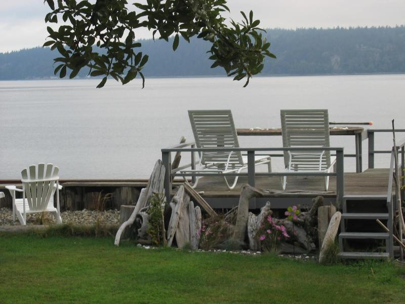 View from cabin deck - The Boat House on Camano Island at the waters edge - Camano Island - rentals