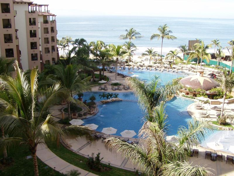 Balcony View of Pool & Beach - Puerto Vallarta 1 or 2 BD, 5 Star BEACHFRONT - Nuevo Vallarta - rentals