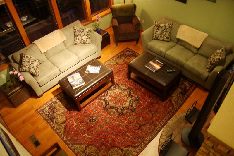 Living room from Fairhaven Loft - Cedar Tree House sleeps 8 to 24--Comfort & Beauty - Bellingham - rentals