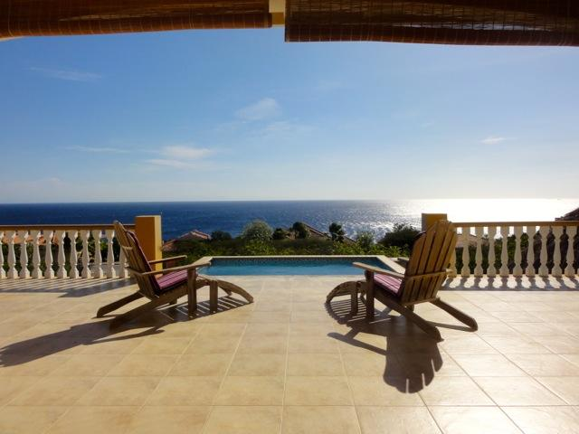Viola!  New pool as of August, 2013! - Iguana Villa--sunsets from pool  over the sea! - Curacao - rentals
