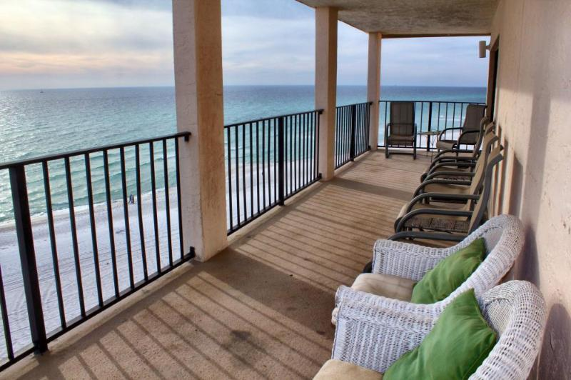 Gorgeous view from your over-sized balcony!!! - Summer Specials! Moondrifter #801 - Oversized Gulf Front Private Balcony! - Panama City Beach - rentals