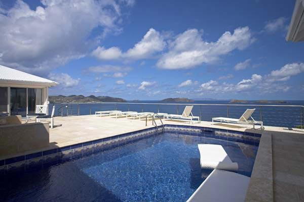 A private and charming villa with incredible ocean views WV DAY - Image 1 - Pointe Milou - rentals