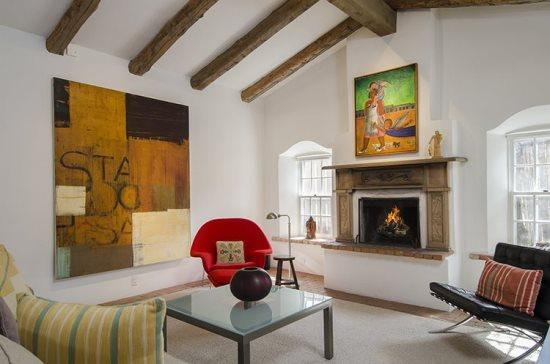 Living Room - Stewart Compound on Acequia Madre - Santa Fe - rentals