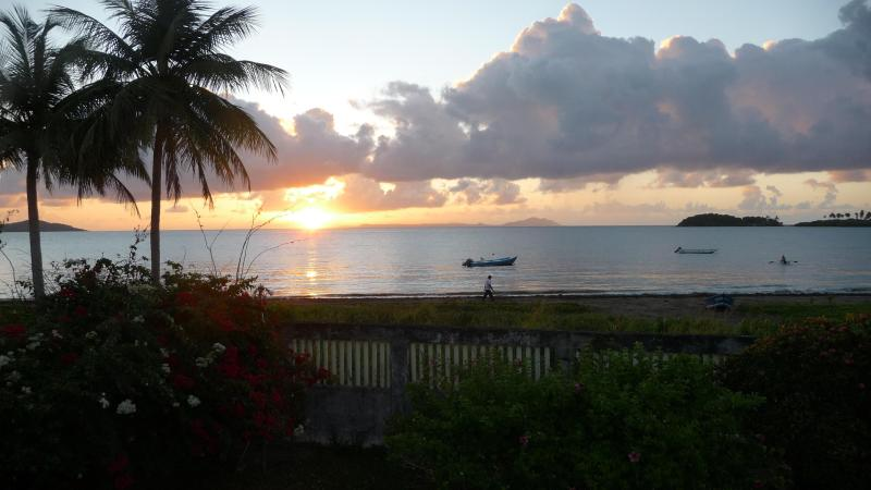 Your Sunset from the balcony - Beachfront Cottage, Punta Santiago, Humacao, P.R. - Punta Santiago - rentals