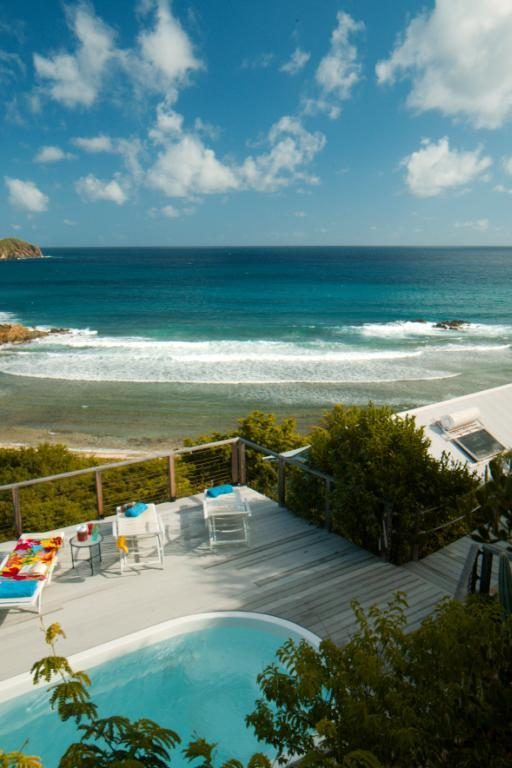 Beautiful view from the pool deck, above the house - A Classic St John VI Beachfront Villa Rental - Saint John - rentals