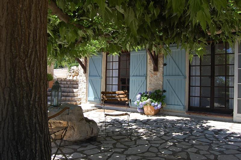 Courtyard for LaCour - STUNNING 1- BEDROOM  IN PROVENCAL FARMHOUSE - Mons - rentals