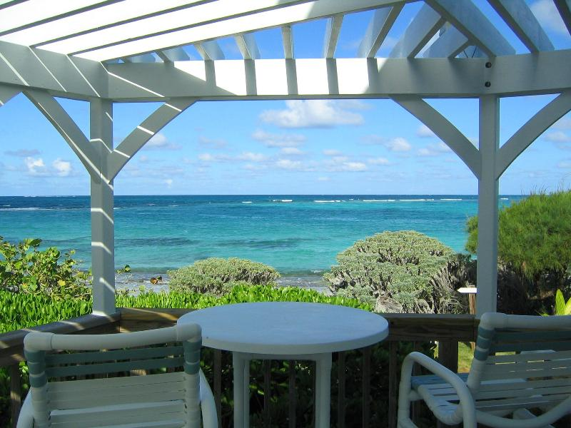 The Atlantic from the deck - Tranquility beach front home with ocean kayaks - Green Turtle Cay - rentals