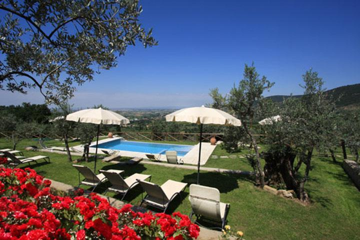 Romantic villa, pool, A/C, walking  Cortona - Image 1 - Chiassa Superiore - rentals