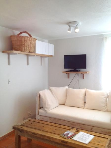 LIVING AREA WITH DESIGNER SOFA - LOFT AGNES: BEST LOCATION! STYLE & COMFORT! - San Miguel de Allende - rentals