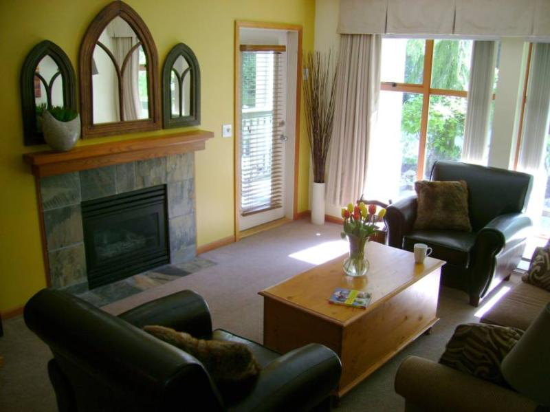 Cozy and Quiet. Relax in front of the fireplace, close the blackout curtains, and lower the lights (all lights are on dimmers). - #50 North Star (contact: Len Atwood) - British Columbia - rentals