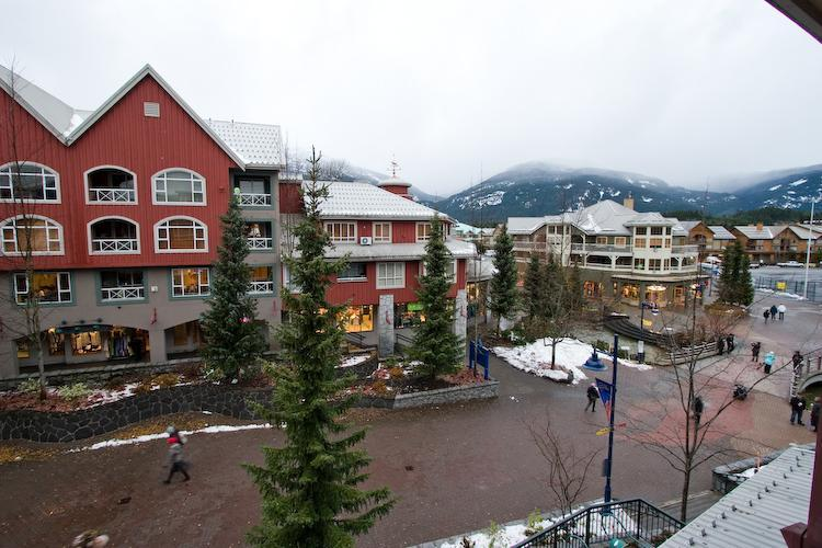 View of village from our private balcony. - Lam Family - Whistler - rentals