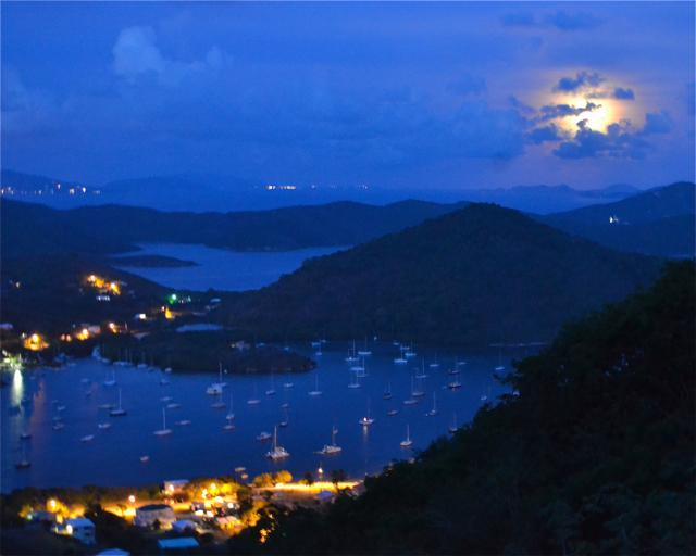 Watch the full moon rises over Coral Bay from Stonegarden Cottage, St. John Rental - Afforable Cottage w/Awesome View, 2-8 From $125/nt - Coral Bay - rentals