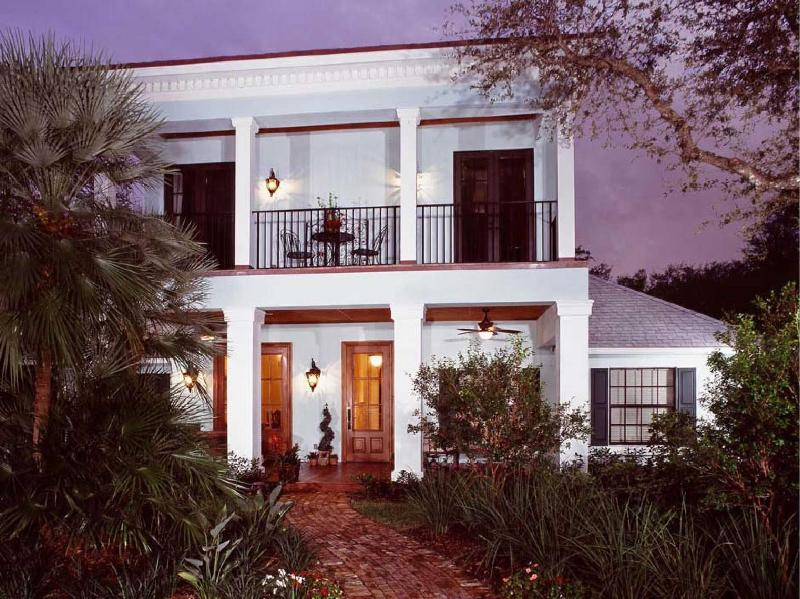 Front Elevation of Residence  - Classic Newer Construction West Indies/New Orleans Style Home Featured in Vero Life Magazine in 2009 - Vero Beach - rentals