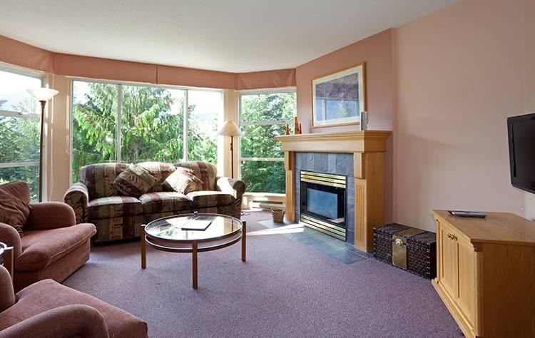 Cozy Living Area with Gas Fireplace - Woodrun 317 | Whistler Platinum | Ski-in/Ski-out - Whistler - rentals